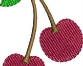 INSTANT DOWNLOAD Mini Cherries embroidery designs
