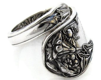 Spoon Ring Wildwood Demitasse size 5 to 8 Wrapped
