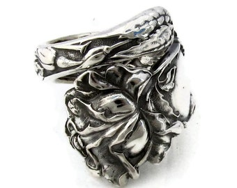 Sterling Silver Spoon Ring Bridal Rose Alvin