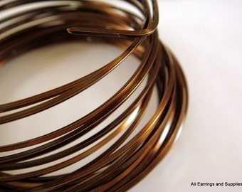 Square Wire Vintage Bronze Plated Non-Tarnish 18 Gauge Soft Tempered - 21 feet - STR9062WR-VBSQ21