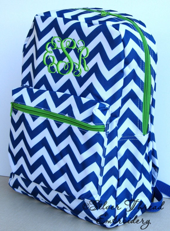 Children Chevron Backpack Personalized Monogrammed School Girl Boy