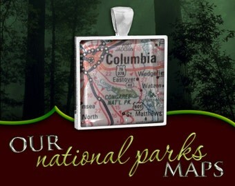 Congaree National Park Map Pendant