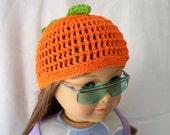 Crochet Doll Hat Delicious Ripe Orange Fits 18 inch doll or American Girl Doll
