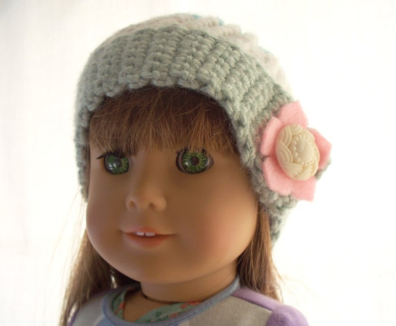 Crochet Doll Hat - Popsicle and Flower Hat - Fits American Girl Doll