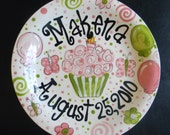 Hand Painted  Personalized Birthday Plate