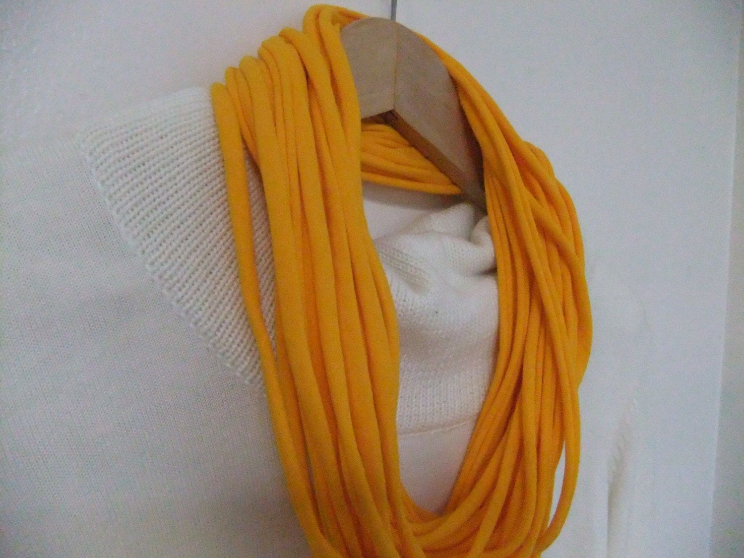 infinity t shirt scarf eternity scarf necklace looped