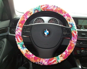 Tie Dye Steering Wheel Cover