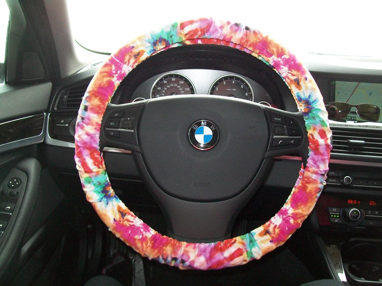 Tie Dye Steering Wheel Cover