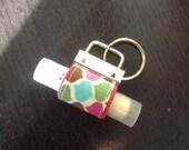 Pink - Lip Balm Keychain