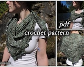 Crochet Pattern pdf - Over the Willamette Scarf or Shawl