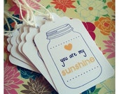 You Are My Sunshine Gift Tags