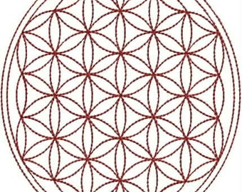 Flower Of Life Trilogy Digitized Embroidery Design