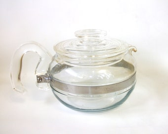 Vintage Blue Flameware Pyrex Tea Pot  Retro Teapot