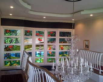 Stained glass Wall - Inspired by a Louis Comfort Tiffany design (P-36)