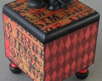 Steampunk Fleur de Lis Trinket Box