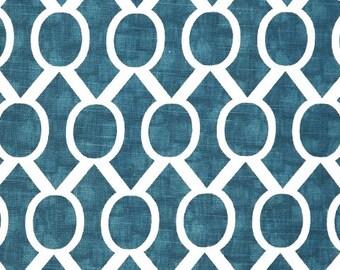 Premier Prints Sydney - Aquarius Turquoise on White Slub - Fabric by the Yard Turquoise Fabric