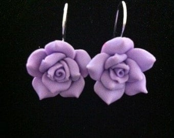 Delicate Smell of A Lavender Rose From The Garden Earrings