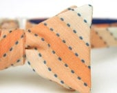 orange & royal blue freestyle bow tie
