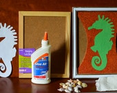 Fun Art and Learning activity for kids - Seashell Picasso Mosaic Kit - SeaHorse - with no shells in this kit.