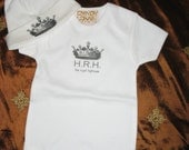 "Baby Boy Onesie or TShirt for HRH ""His Royal Highness"""