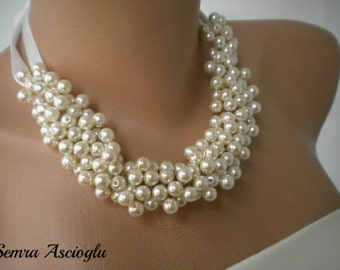 Handmade Weddings Pearl Necklace