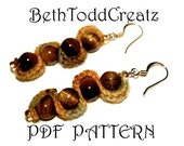 Easy Serpentine Earrings PDF EMAILED pattern Knit Version by BethToddCreatz Patterns on Etsy