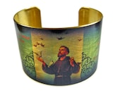 SAINT FRANCIS of Assisi prayer Cuff Bracelet St. francis brass or stainless steel