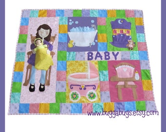 NEW Interactive Doll Quilt - PDF Sewing Pattern (Quilt and Baby Doll)