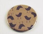 Handmade Pocket Mirror in  Little Brown Bird  (PM9)