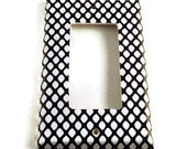 Rocker Light Switch Cover Wall Decor Black and White Light Switchplate Switch Plate in  Fishnet (087R)