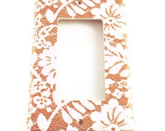 Light Switch Cover Wall Decor Rocker Light Switchplate Switch Plate in  Chantilly  (199R)