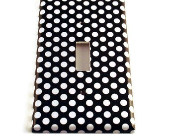 Light Switch Cover Wall Decor Switchplate Switch Plate in  Polka Dots Rock (207S)