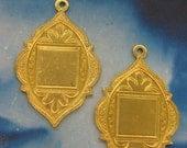 Natural Raw Brass Arabian Style Medallions 35RAW x2