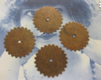 25mm Copper Ox Plated Sprocket Gears 592cCOP x4