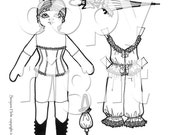 Heirloom Lady  Paper Doll to print, color and cut