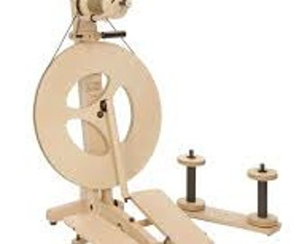 SALE and FREE Shipping: Louet Victoria Spinning Wheel, Over 15% off US List, Lightweight, Double Treadle, Great Travel Wheel