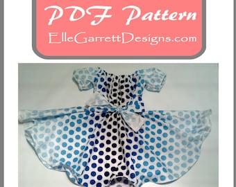 PDF Pattern - Girls Twirl Dress Pattern  Size 6 months - girls 12