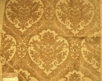 HUGE Cut Chenille Medallion Designer Fabric Sample Highland Court