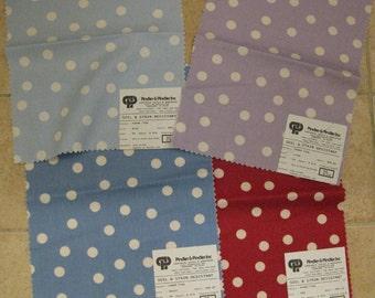 Pindler Mod Dots Tyra Pattern Fabric Samples LOT 4 pieces