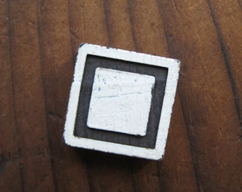 Vintage Wood Anagram Game Piece, Square, Blank Game Piece, Black and White, gifts for him, gifts for her, Gifts under 5