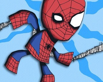 Art Print Amazing Spiderman Superhero Illustration