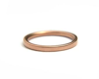 Plain gold matching wedding band 14k Rose gold ring