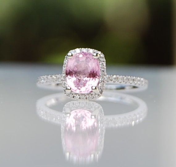 reserved 1 3ct Petal Blush cushion cut Sapphire by EidelPrecious