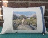 custom pet portrait pillow for Cathy