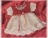 Crochet Pattern Baby Dress... Morgan Jo  Baby Dress By Rebecca Leigh