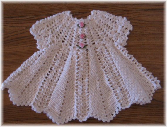 Crocheting For Babies : Crochet Pattern for Apple Blossom Baby Girl Dress