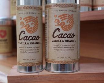 0505 Cacao Vanilla Orange 3.5oz...hot drinking chocolate made with 100% organic, fair trade ingredients
