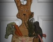 Prim Bunny Door Hanger