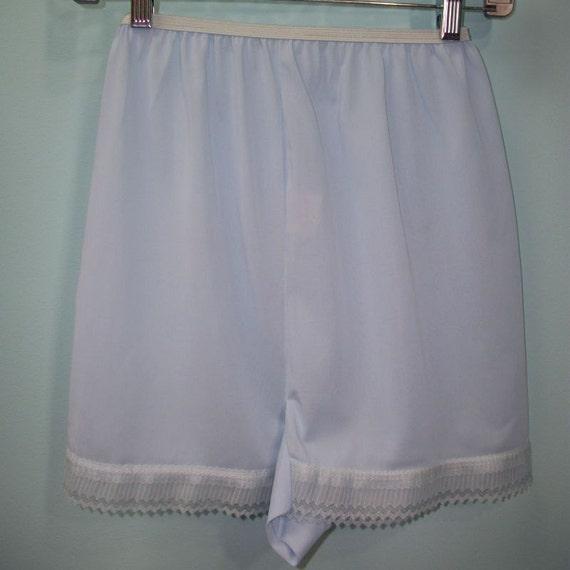 vintage baby blue nylon granny lingerie panties