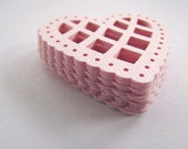 Pink Heart Doily Paper Embellishments Small Pk 25 - Wedding, Mothers Day, Birthday